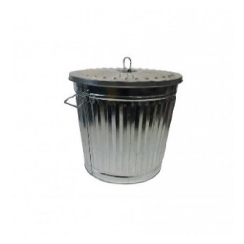 TACHO RECIPIENTE METAL C/TAPA 62 LIT.